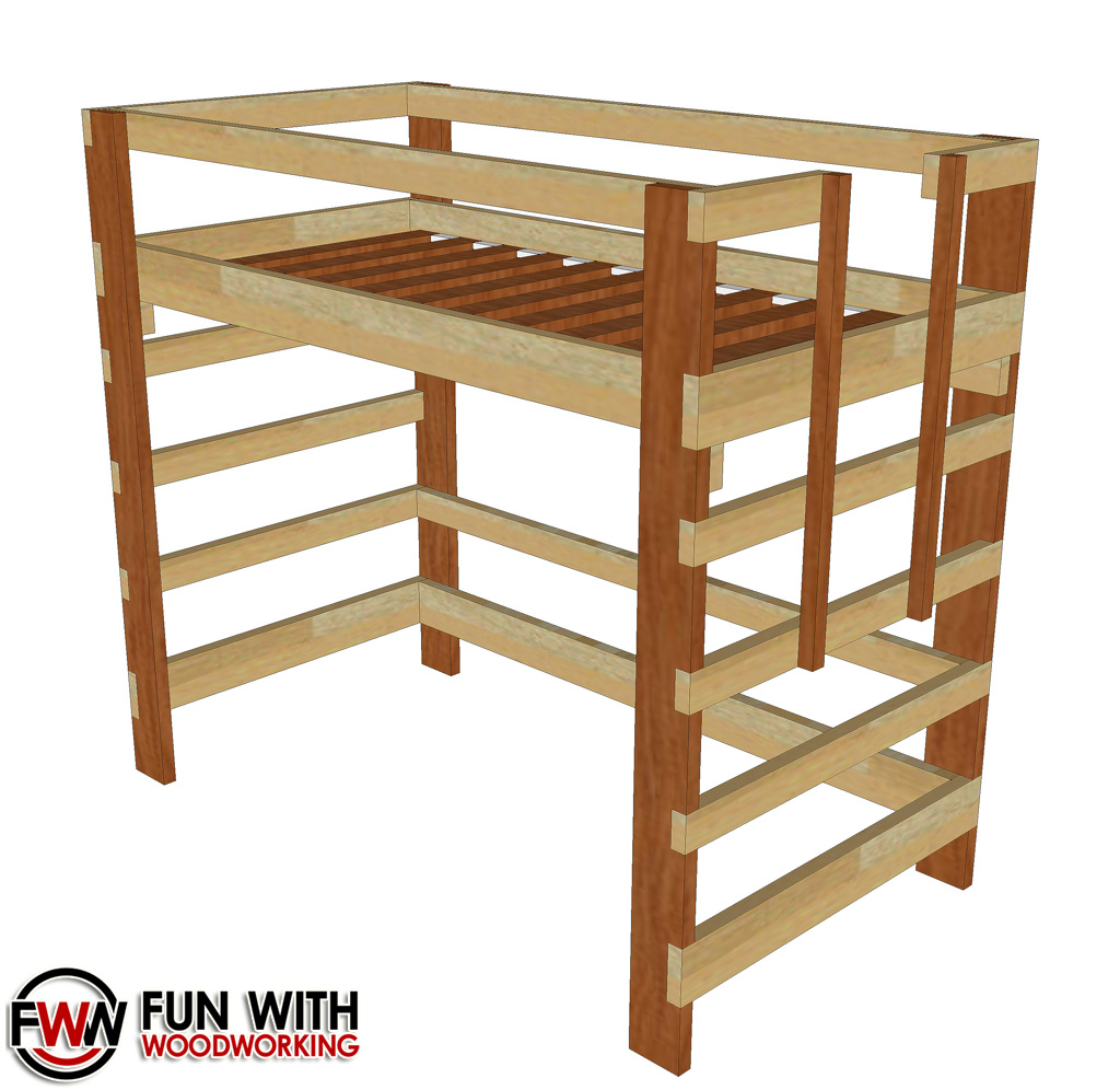 Fun with woodworking woodworking projects and plans for Wooden bunk bed designs