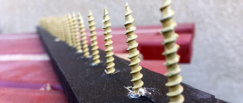 Building homemade bird spike strips