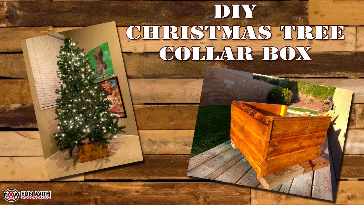 New Video Diy Christmas Tree Collar Box Stand Made From Pallet Wood For Less Than 5 Fun With Woodworking